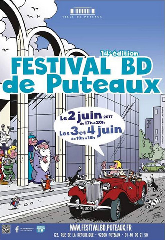 Lucky Brothers affiche festival bd puteaux